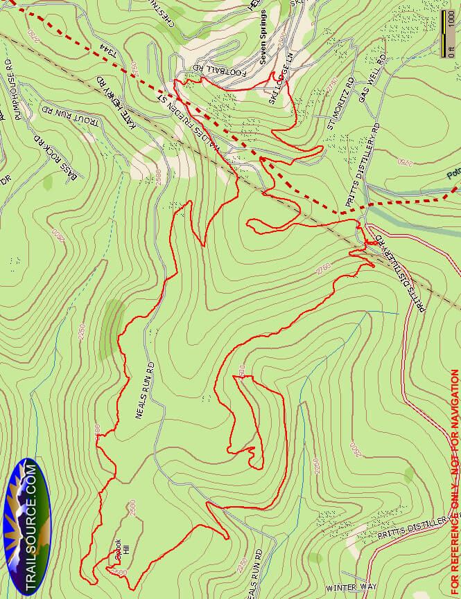 Seven Springs Mountain Resort Mountain Biking Map