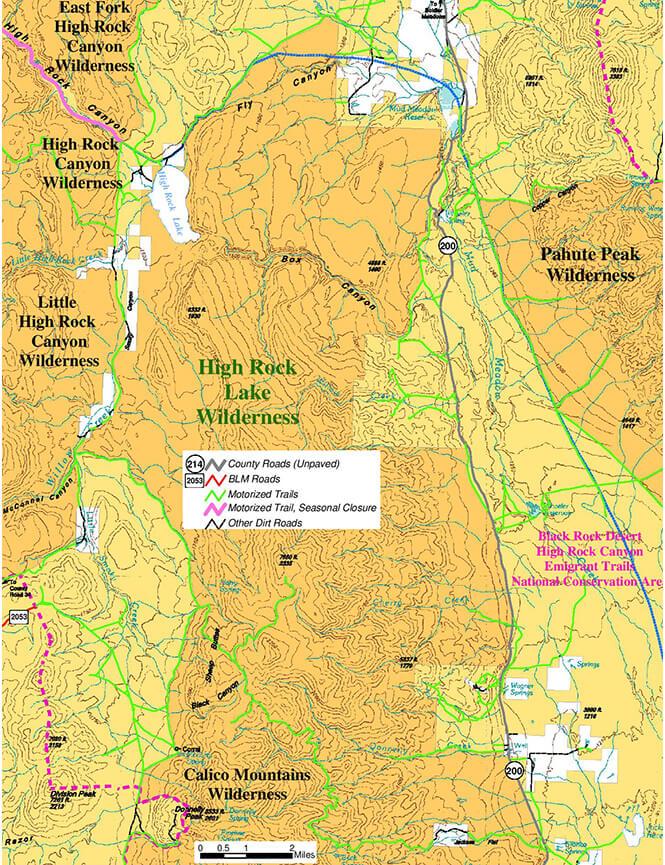 High Rock Lake Dirt Biking Map