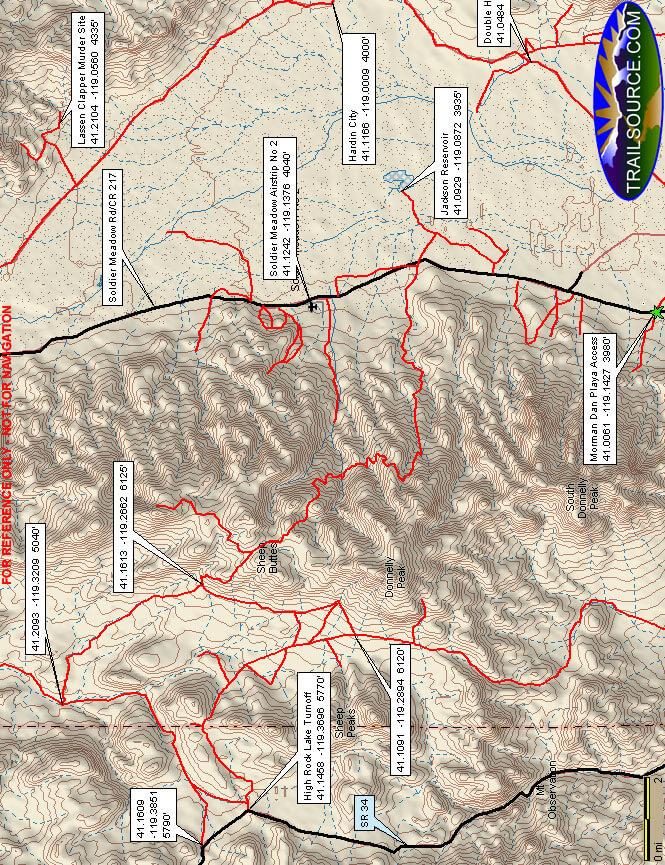 High Rock Lake ATV Trails Map