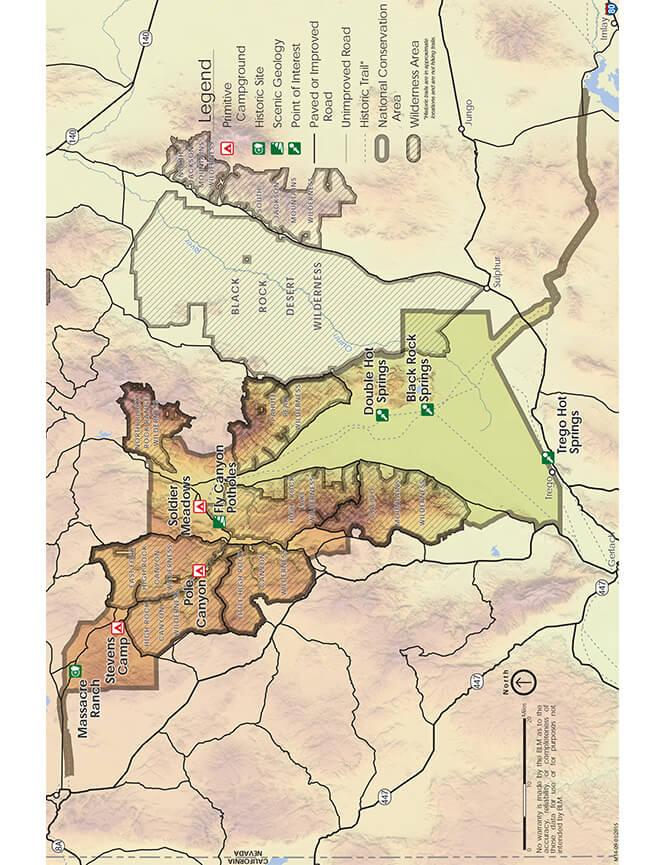 Black Rock Hot Springs Dirt Biking Map