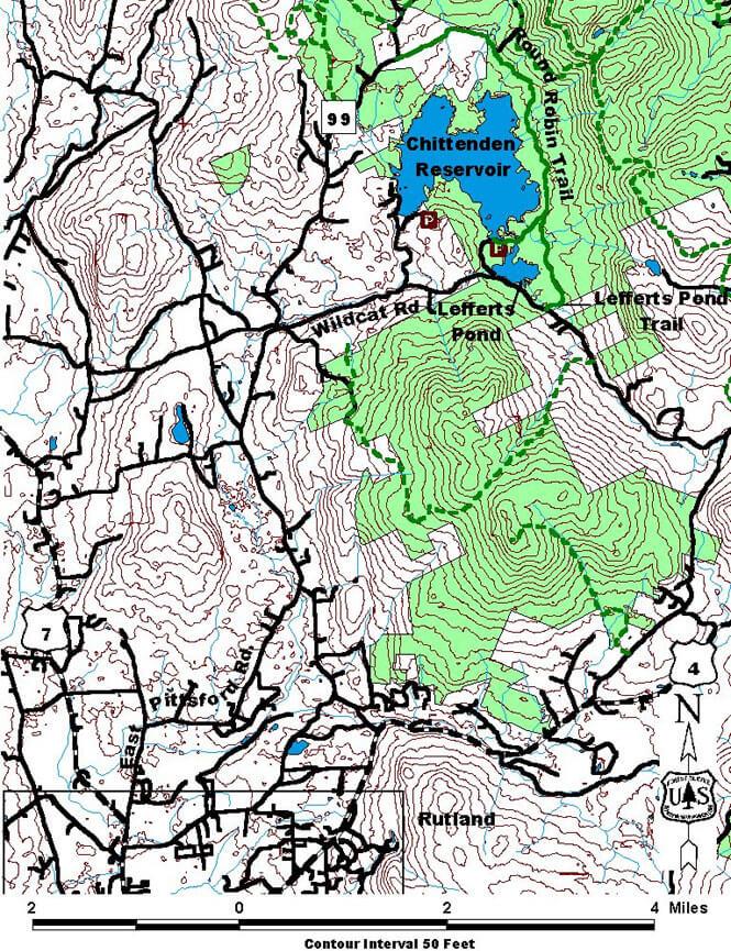 Lefferts Pond Horseback Riding Map