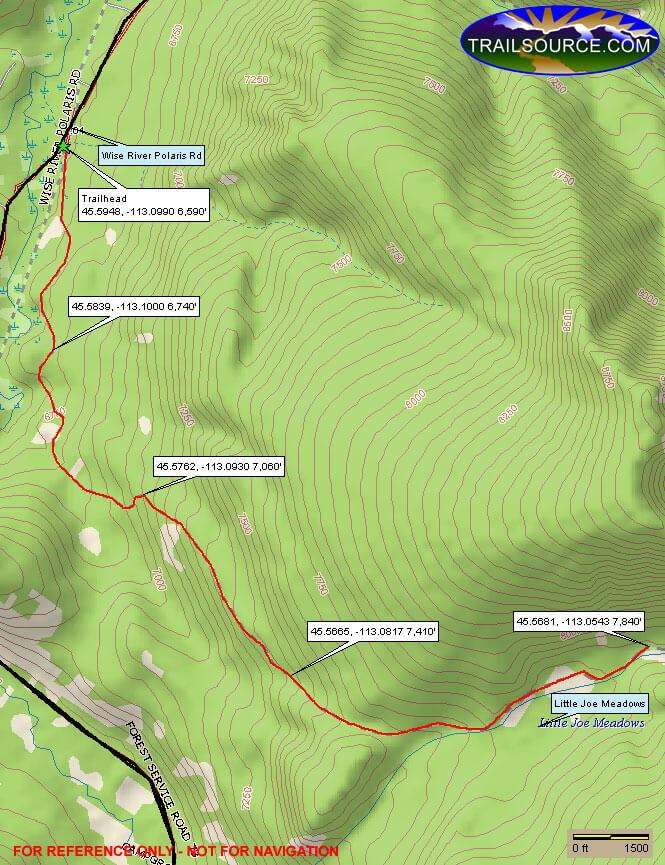 Little Joe Trail Dirt Biking Map