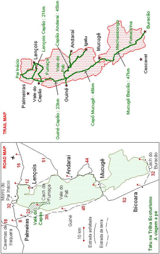 Chapada Diamantina National Park Hiking Map