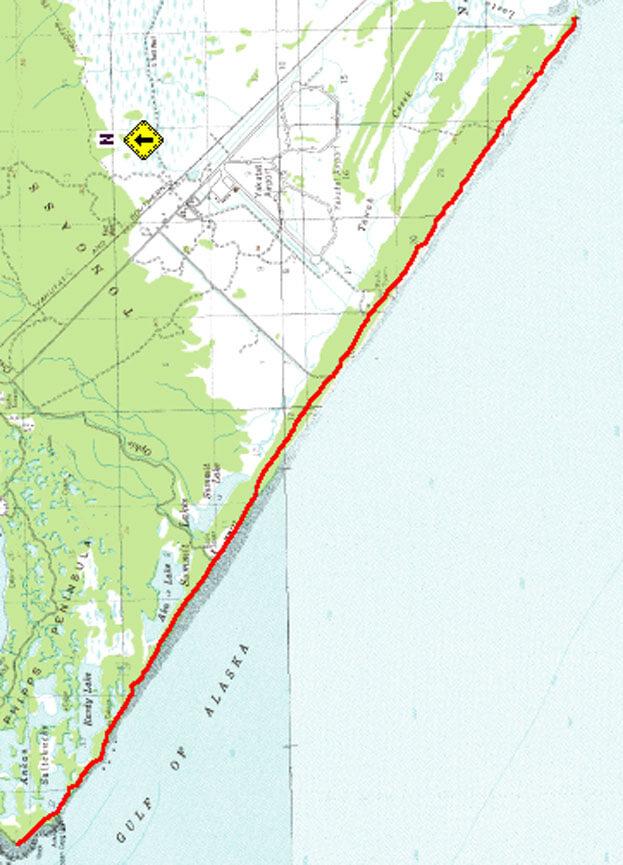 Gulf Of Alaska Trail Hiking Map
