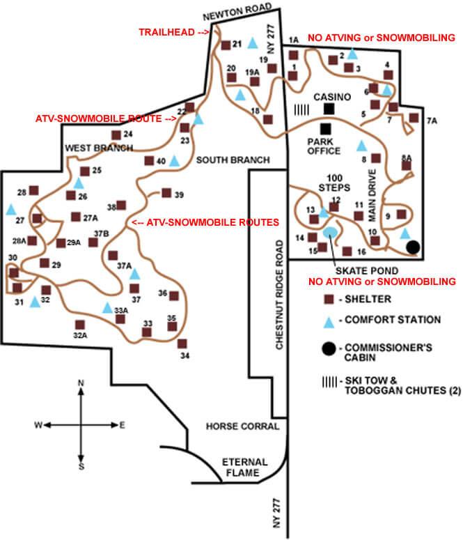 Chestnut Ridge Park ATV Trails Map