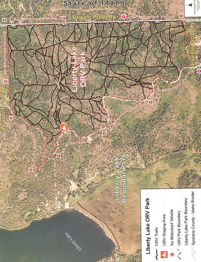 Liberty Lake ORV Park Dirt Biking Map