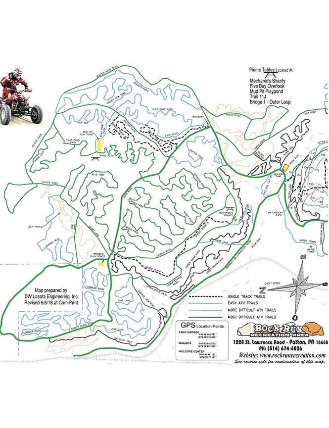 Rock Run Dirt Biking Map