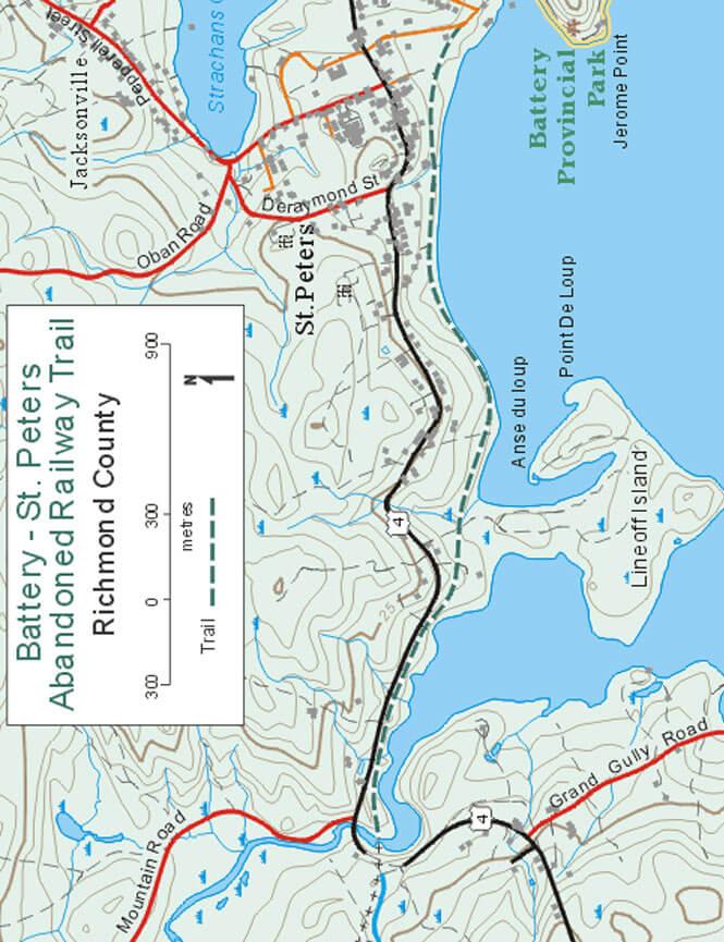 Battery Park - St. Peters Railway Trail ATV Trails Map