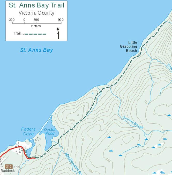 St Anns Bay Trail Hiking Map