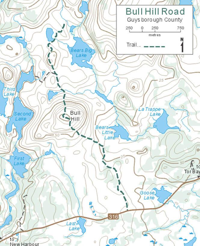 Bull Hill Road Trail Hiking Map