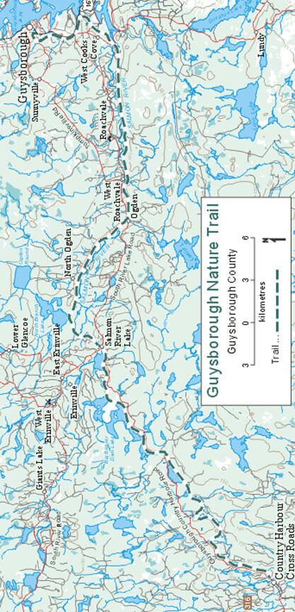 Guysborough Nature Trail Snowmobiling Map