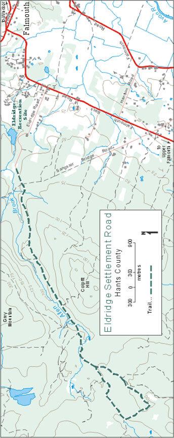 Eldridge Settlement Road Cross Country Skiing Map