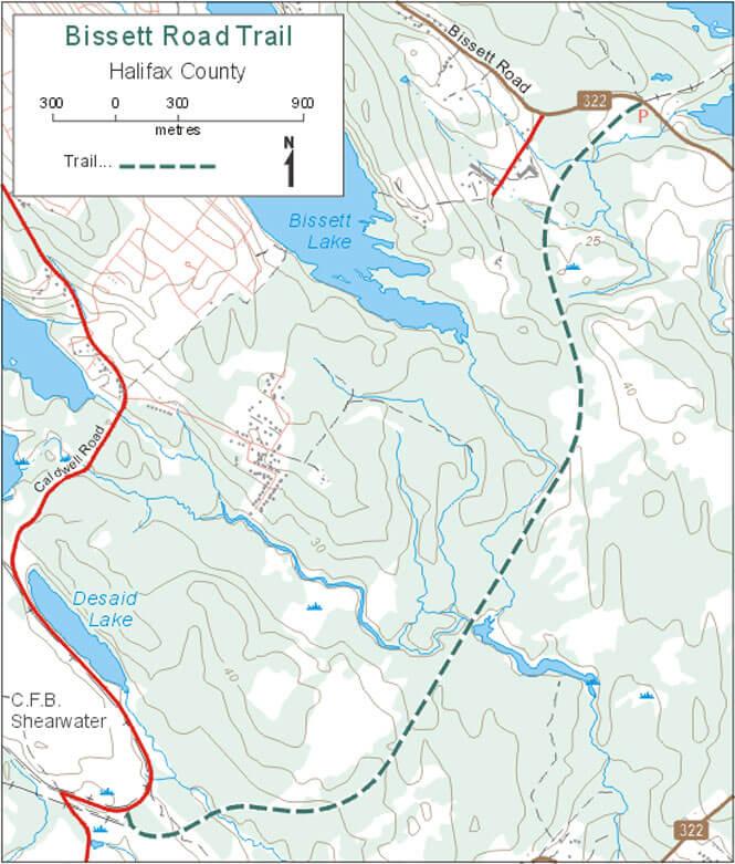 Bissett Road Trail Mountain Biking Map