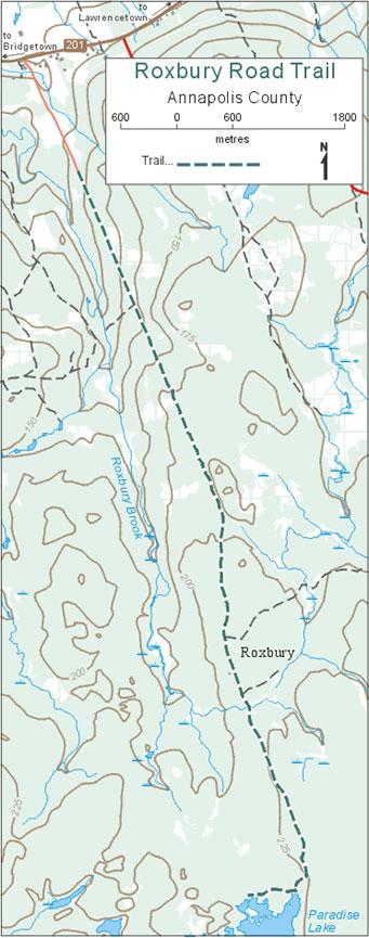 Roxbury Road Cross Country Skiing Map