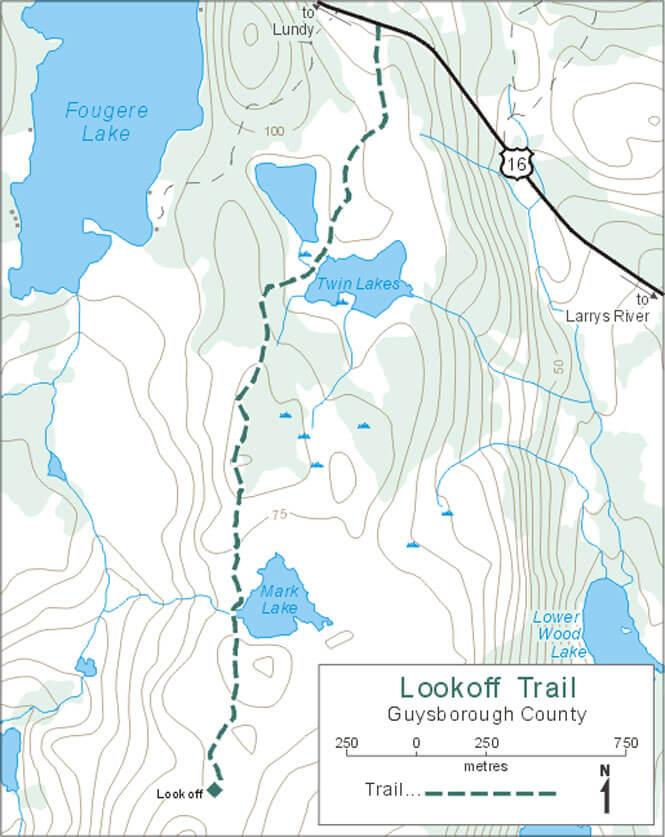 Lookoff Trail Horseback Riding Map