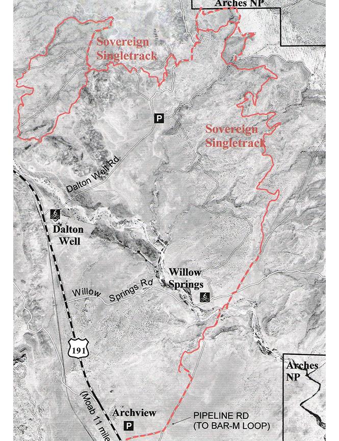 Sovereign Trail Dirt Biking Map