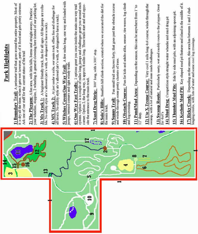 Florida Motoplex MX Dirt Biking Map