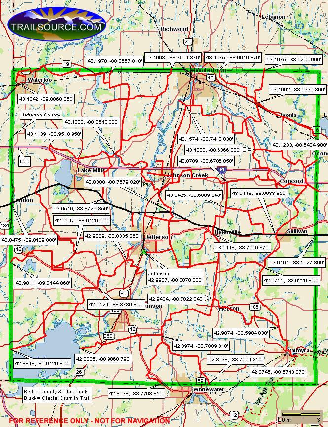 Jefferson County Snowmobiling Map