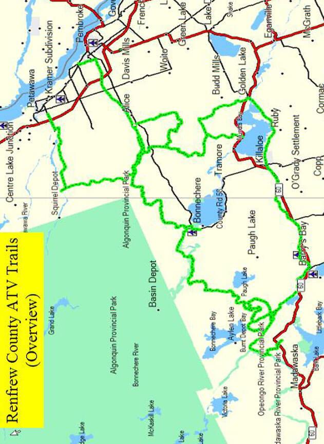 Renfrew County ATV Trails Map