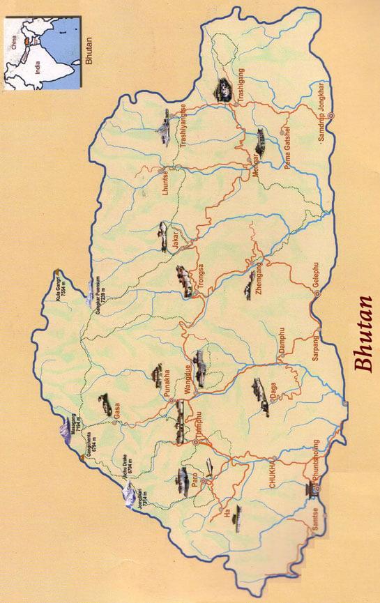 Sakteng Trek Hiking Map