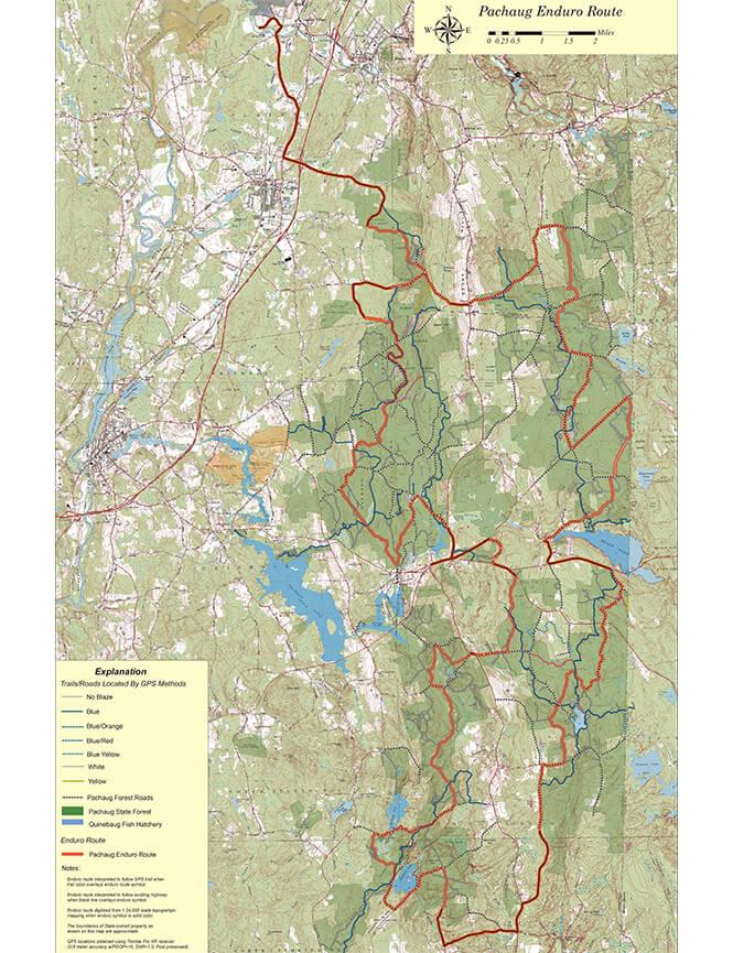 Pachaug State Forest Dirt Biking Map