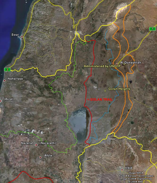 Golan Trail Hiking Map