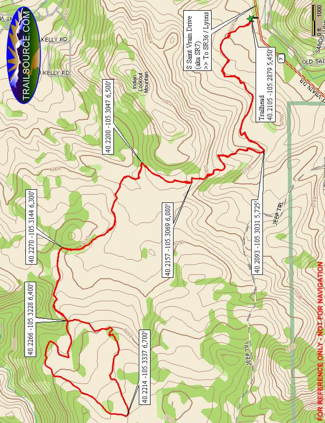 Hall Ranch Hiking Map