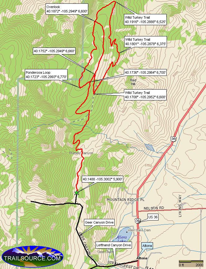 Heil Valley Ranch Horseback Riding Map