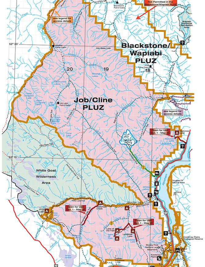 Job / Cline Backcountry Recreation ORV Area Dirt Biking Map