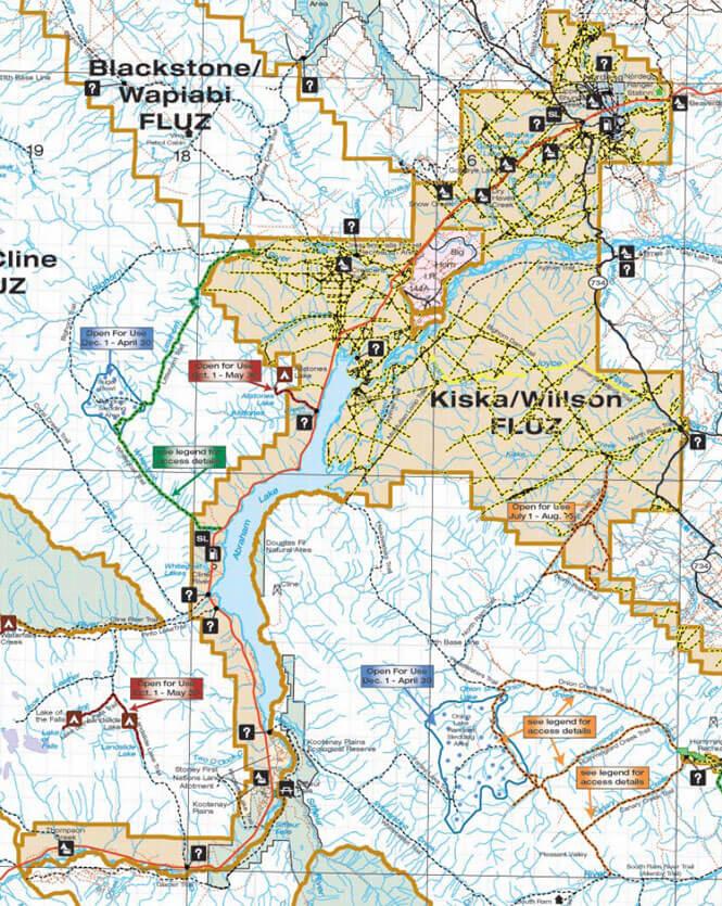 Kiska Wilson North ATV Trails Map