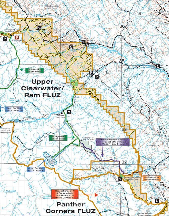 Kiska Wilson South ATV Trails Map