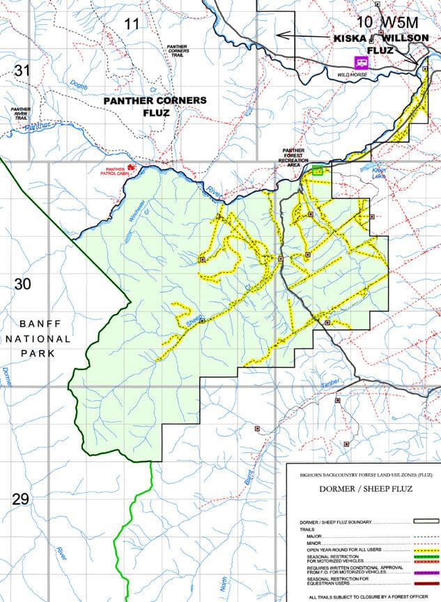 Dormer Sheep ATV Routes ATV Trails Map