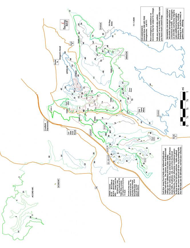 Burning Rock Off-Road Park ATV Trails Map