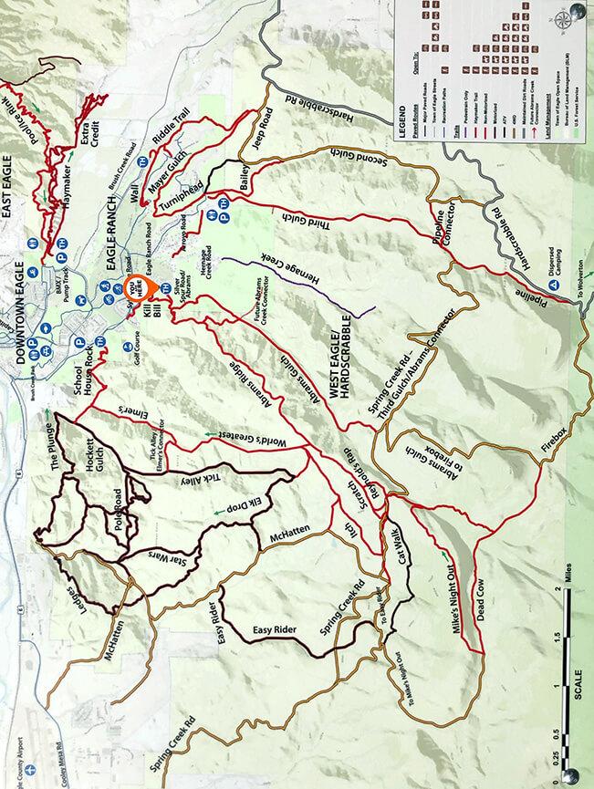 Abrams Ridge Trail Mountain Biking Map