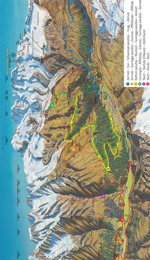 Zermatt Mountain Biking Map