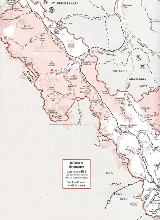Lake Louise Horseback Riding Map