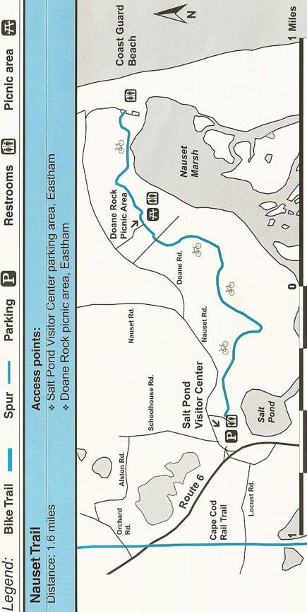 Nauset Trail Mountain Biking Map
