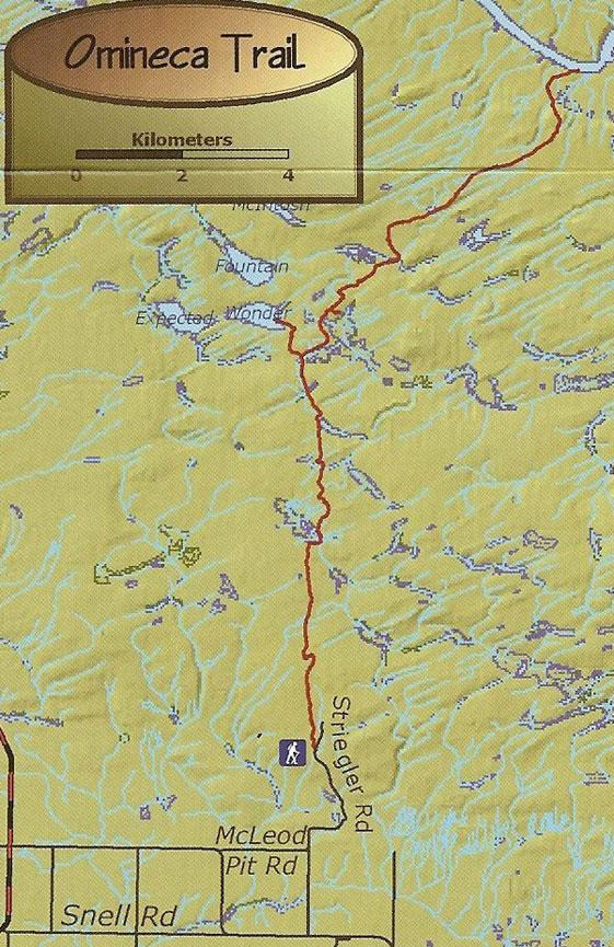 Omineca Trail Horseback Riding Map