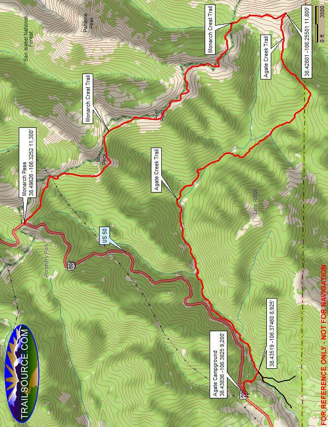 Agate Creek Trail Hiking Map