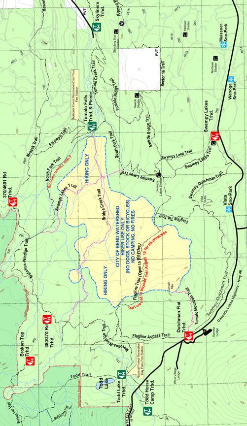 Tumalo Trails Mountain Biking Map