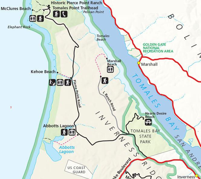 Marshall Beach Mountain Biking Map