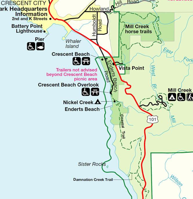 Coastal Trail - Last Chance Mountain Biking Map