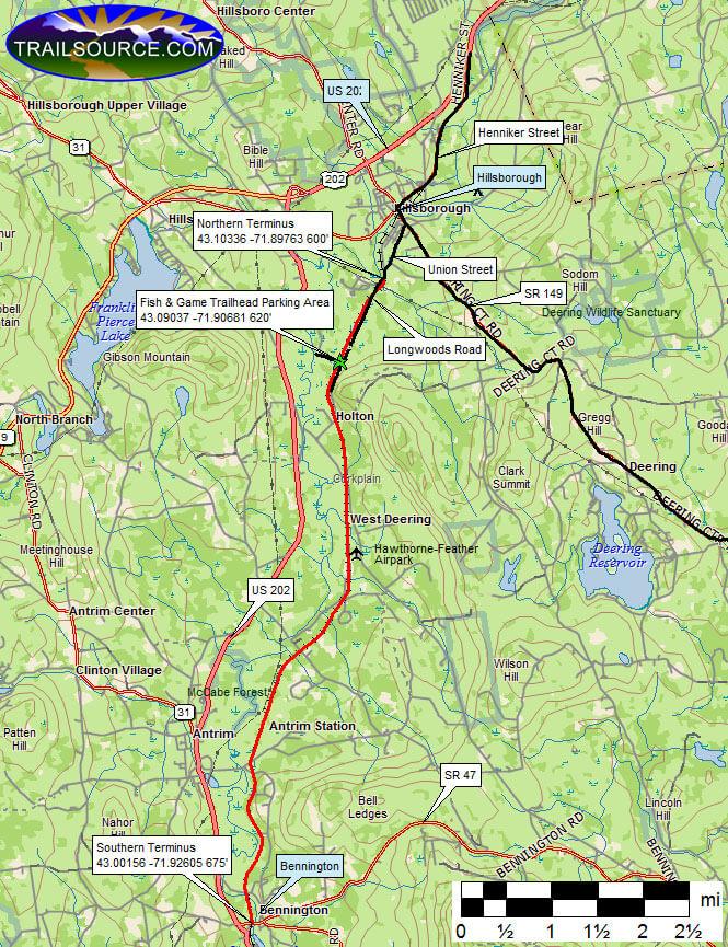Hillsborough Recreation Trail Dirt Biking Map