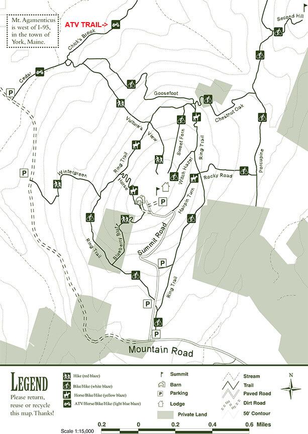 Mount Agamenticus ATV Trails Map