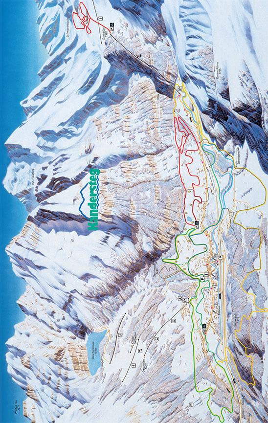 Kandersteg Cross Country Skiing Map