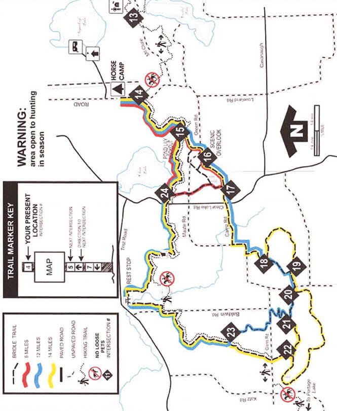 Waterloo State Recreation Area Horseback Riding Map