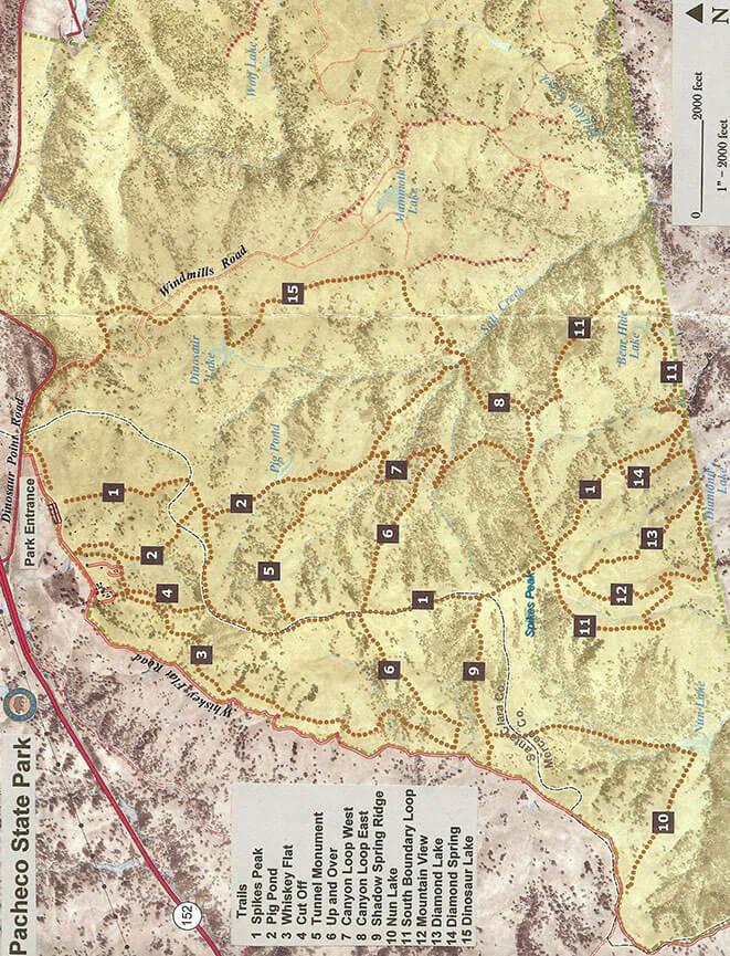 Pacheco State Park Horseback Riding Map