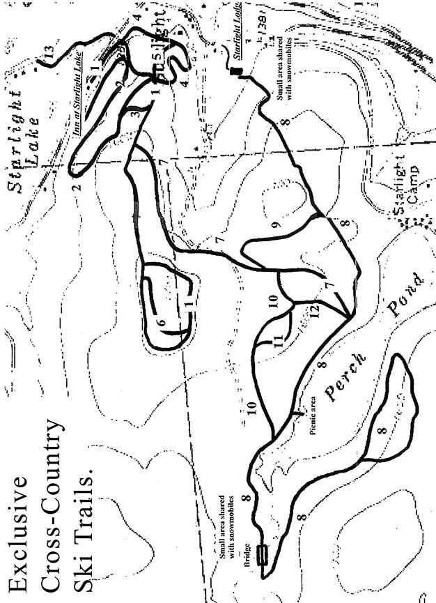 Starlight Lake Nordic Cross Country Skiing Map