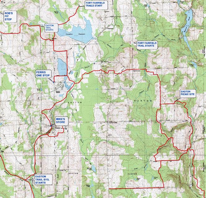 Easton ATV Trails Map