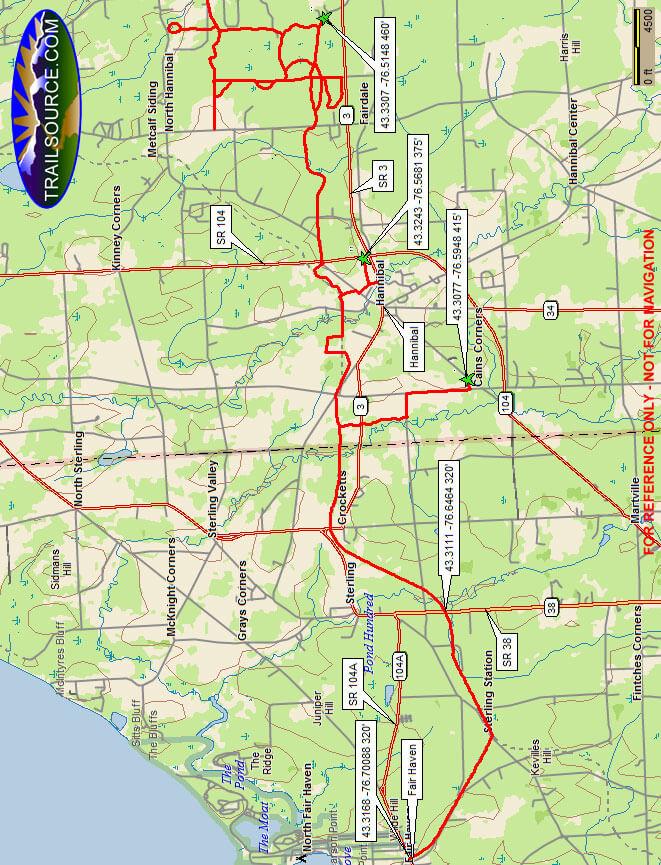 Oswego Valley ATV Club ATV Trails Map